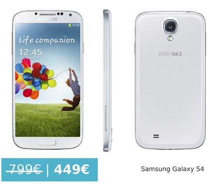 Samsung Galaxy S4 por 449€