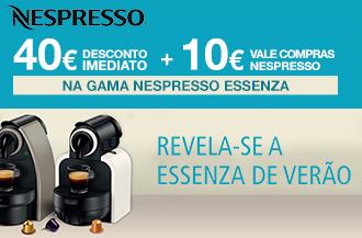 Máquinas Nespresso Essenza - 40€ de Desconto Imediato + Vale de compras Nespresso 10€