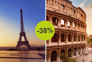 Roma ou Paris, qual é o teu destino? Aproveita já este desconto!
