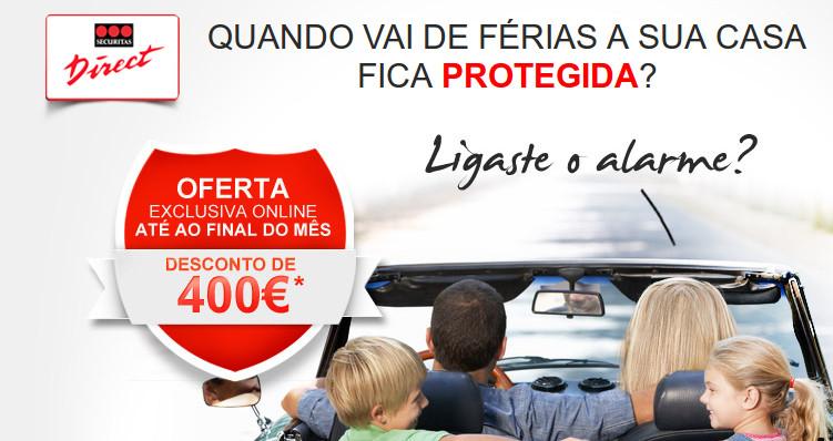 Mantem a tua casa em segurança com um desconto de 400€ nos Alarmes Securitas Direct